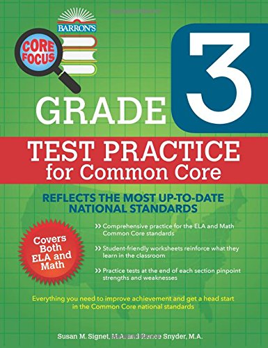 Barron's Core Focus: Grade 3 Test Practice for Common Core