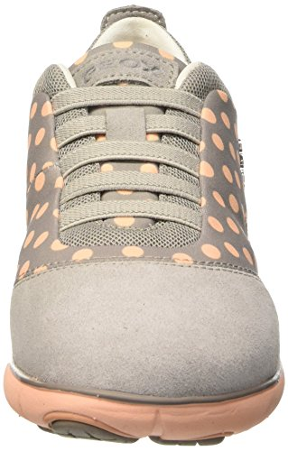 Sneakers Geox Damen D Nebula C Grigio (grigio Chiaro / Pesca)