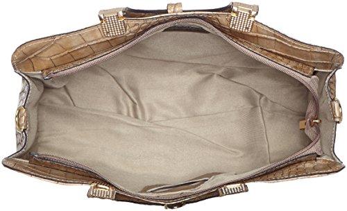 véritable Gris 37x26x14cm imprimé femmes classique crocodile main avec Sac CTM Italy Fango cuir en in 100 à sac Made 74qWzxwT