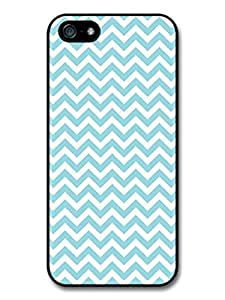 Chevron Pattern iPhone 5 Case Light Blue by ruishername
