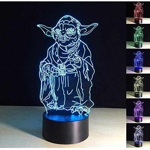 (3D Lamp,3D Optical Illusion LED Night Light 7 Colors Changing LED Table Desk Lamp LED Nightlight Home Decoration Gifts Toys for Children Kids)