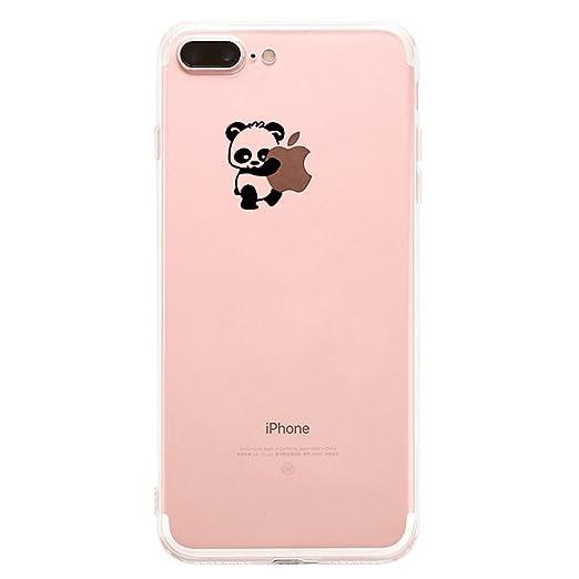 factory price 9b4e2 a7df8 Qissy iPhone 8 Plus Case, iPhone 8 Plus 2017 Case Panda Clear Design  Transparent Bumper Soft TPU Cover