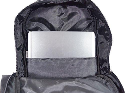Rucksack aus Nylon für Computer 15Zoll–AOKING, blau (Blau) - Aoking_16017-Bleu schwarz