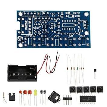 DIY Kits Electrónicos 76MHz-108MHzStereo Receptor de Radio FM PCB Módulo inalámbrico: Amazon.es: Electrónica
