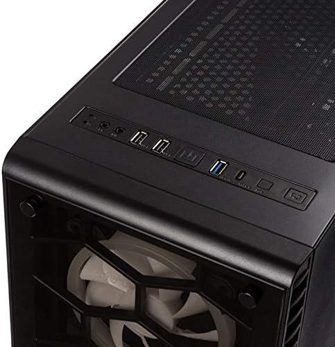 Kolink Observatory White -Case RGB Mid-Tower ATX Bianco (SECC 1mm)- per PC Gaming con Pannello Frontale e Laterale in Vetro temperato Nero