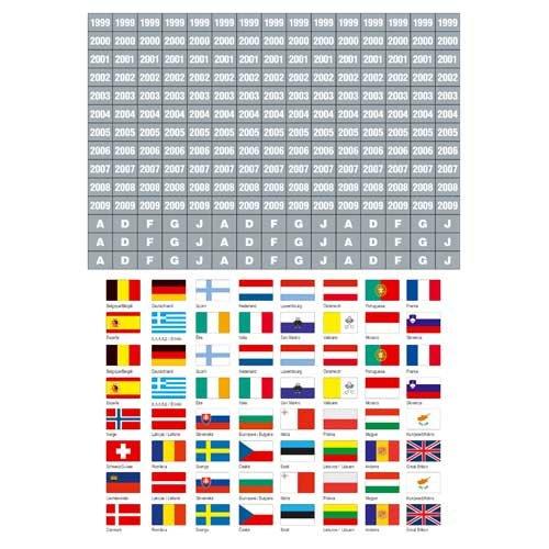 セーフ1862 kennzeichungs-flaggenセットganze Welt B01LWW6C2Q