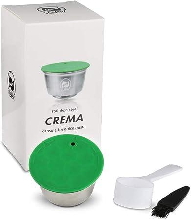 i Cafilas Dolce Gusto Cápsula de Café Reutilizable Recargable Dolce Gusto Filtro de Café Compatible para Dolce Gusto, con Cuchara de café, Cepillo (Cápsula): Amazon.es: Hogar