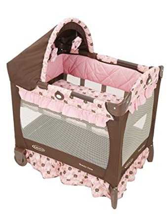 Amazoncom Graco Travel Lite Crib with Bassinet Betsey