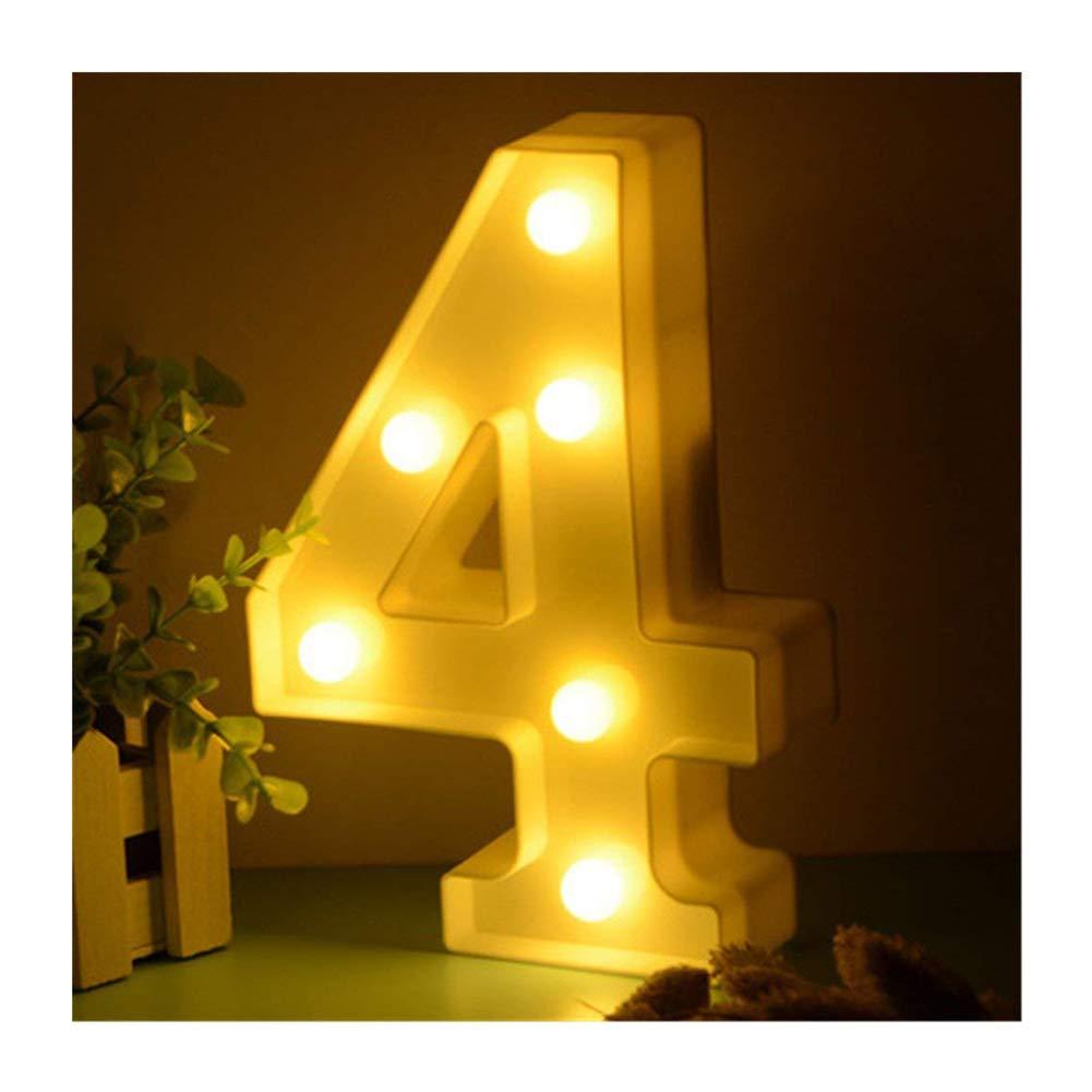 f/ür Party Hochzeit Empf/änge Home LED Zahlen Lampe Nummer Beleuchtete Ziffern 0 1 2 3 4 5 6 7 8 9,Warm Wei/ße Lichter Dekoration Lichter Festzelt Licht von DUBENS 8 Batteriebetrieben