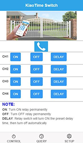 KT-G2 USA 4G GSM AUTO Relay Switch 12V Remote Control Box Wireless Gate Opener 4CH Output HOG Trap System(WiFi LAN+SMS+APP Simple Programming) by KiaoTime (Image #4)