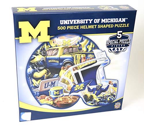 (Michigan Wolverines Helmet Shape Puzzle 500 Pieces.)
