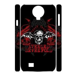 Custom Avenged Sevenfold 3D Phone Case, Custom Hard Back Cover Case for SamSung Galaxy S4 I9500 Avenged Sevenfold