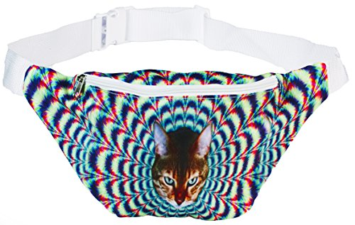 Funny Guy Mugs Psychedelic Cat Fanny Pack -