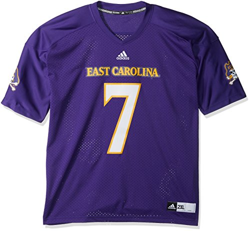 adidas NCAA East Carolina Pirates Men's Premier Football Jersey, Purple, Large
