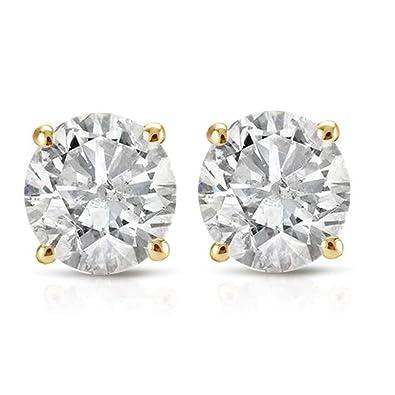 Amazon.com  1 3ct Diamond Studs 14K Yellow Gold  Stud Earrings  Jewelry 9f4777784