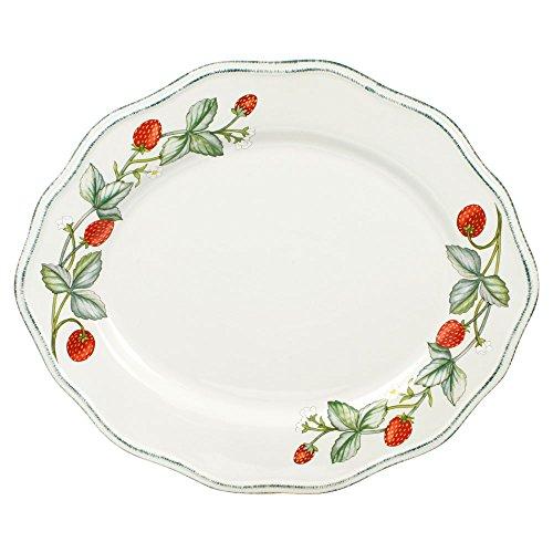 Pfaltzgraff Strawberry Vine Oval Platter (Plates Oval Pfaltzgraff)