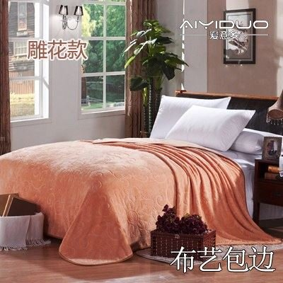 Znzbzt small blanket afternoon nap office single cute mini cover and small blankets winter student adult thick warm ,200x230cm [thick package of health, and color of desert and
