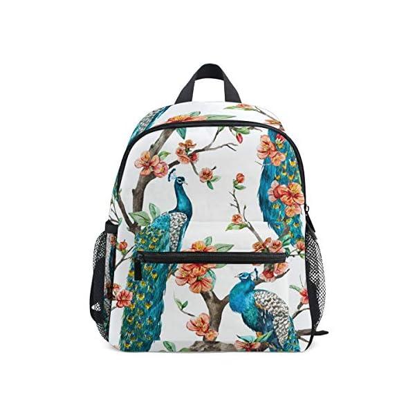 Peacock Animal Zaino Scuola Multi Carino Bookbags per la Scuola Ragazzi e Ragazze Ragazze Ragazzi Borse Bambini Viaggio… 1 spesavip