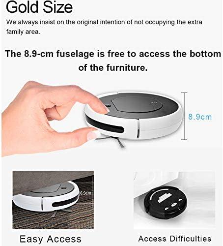 GDS Nettoyage Télécommande Robot Intelligent Clean Robot Aspirateur pour Mince Tapis et Plancher Dur, 2200mAh Capacité de la Batterie / 120mins Runtime