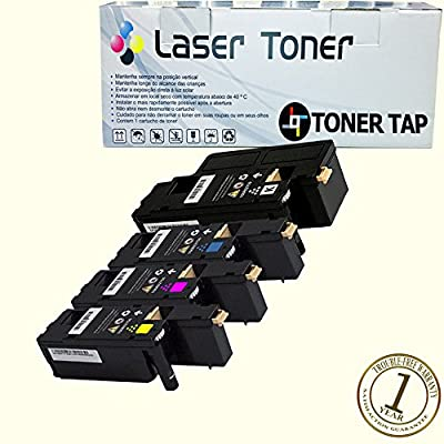 Toner Tap® Compatible Toner Cartridge Set for Xerox Phaser 6022/NI Wireless Color Photo Printer, For Xerox WorkCentre 6027/NI Wireless Color Photo Printer with Scanner, Copier and Fax