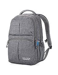 Doleesune 8459 Water Resistant Nylon Backpack College School Bag (Grey)