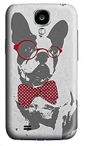 iCustomonline Cute Funny Trendy Vintage Animal French Bulldog Case for Samsung Galaxy S4 I9500 Hard 3D