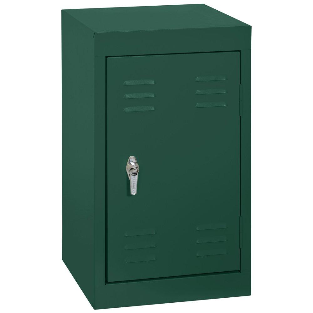 Sandusky LF11151524-08 Welded Steel Mini Locker, 15-Inch Width x 24-Inch Height x 15-Inch Depth, 1 Tier, Forest Green