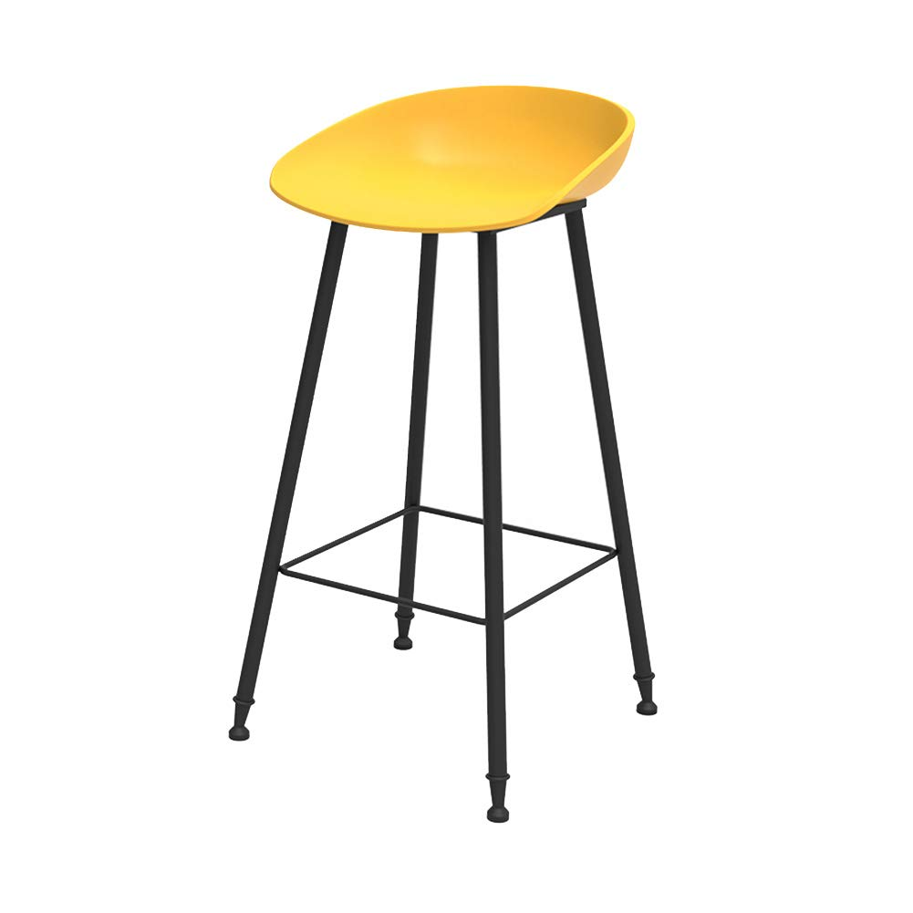 Yellow 45CM ZHAOYONGLI Stools Footstool Bar Chair Modern Simple Creative Bar Chair High Chair High Stool Bar Stool Creative Solid Durable Long Lasting (color   Cyan, Size   75CM)