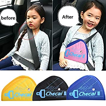 Universal Car Safety Harness Fixator Vehicle Seat Belt Protector Clip Covers Triangle Positioners Fit Baby Toddler Kid Adult Secure Yuciya Seatbelt Adjuster