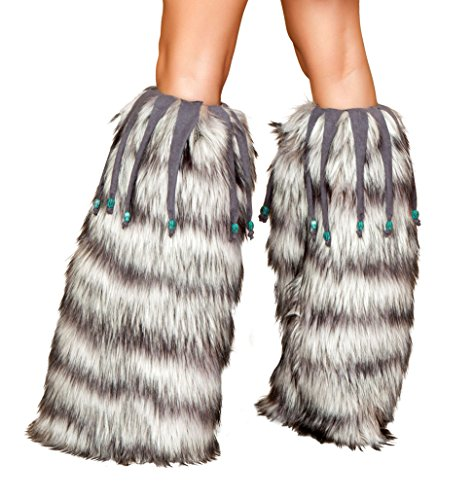 Sexy Women's Leg Warmer w/ Beaded Fringe Costume Accessory
