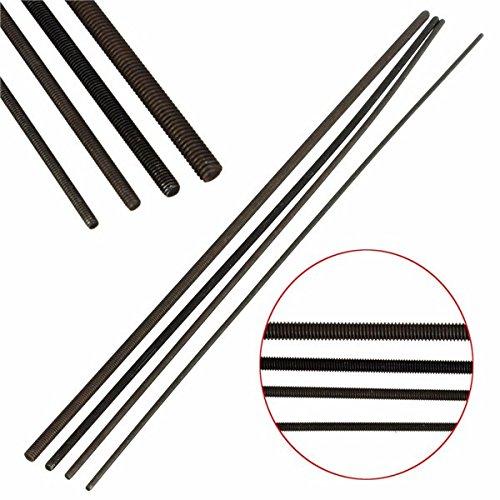Grade 12.9 Carbon Steel Black Threaded Rod M2/M2.5/M3/M4 Length 250MM (Random: Mode)
