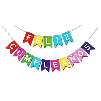 Guirnalda colorida de Feliz Cumpleaños, guirnalda de ...