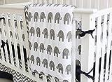 Sunny Bunny 7 Pieces Set Elephant Crib Bedding Baby