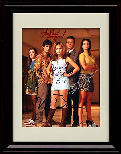 Framed Buffy The Vampire Slayer Cast Autograph Replica Print - Portrait