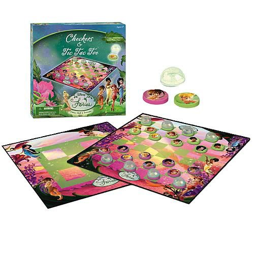 Disney Fairies 4 in 1 Game - Checkers Fairies Disney