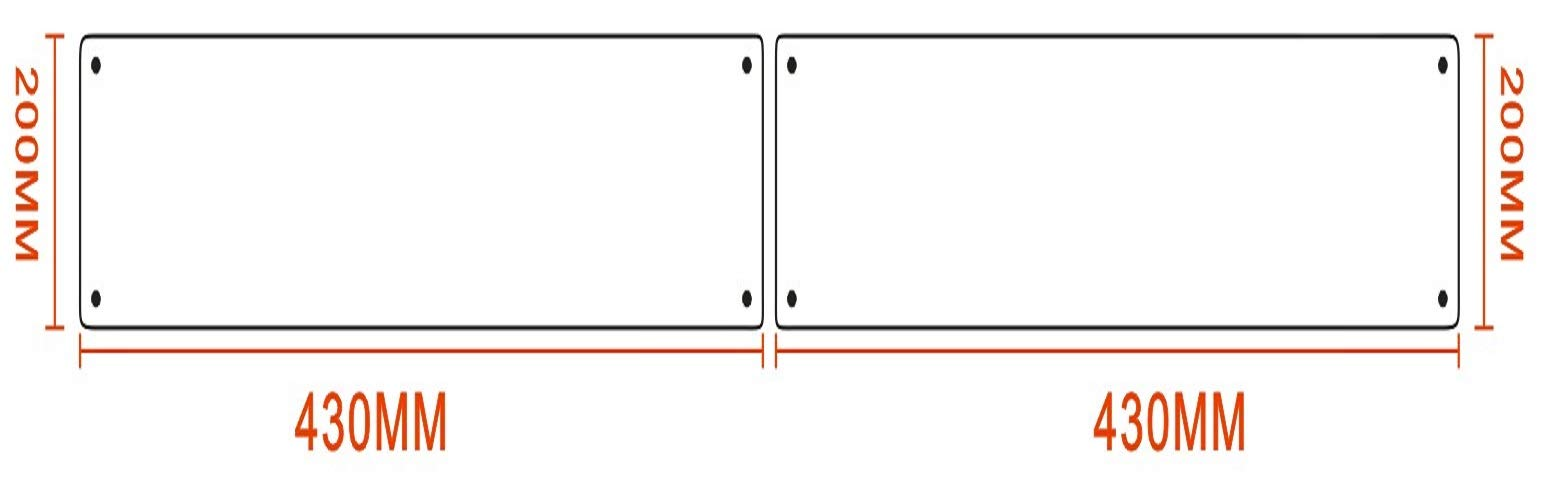 Promotion! VRSS Pack of 2 Satin Finish 304 Stainless Steel Kick Plate 200mm Height x 430mm Width 1.2mm Thick, 2 Pack by VRSS (Image #3)