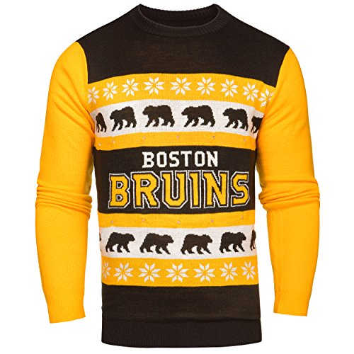 NHL Boston Bruins One Too Many Light Up Sweater, Large