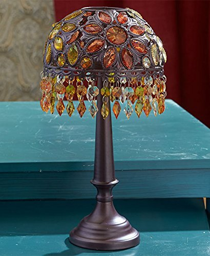 The Lakeside Collection Beaded Tea Light Candle Holder - - Beaded Candle