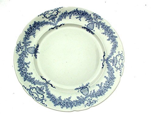 C And Co Festoon Flow Blue 10.75 Inch Plate by (Flow Blue Dinner Plate)