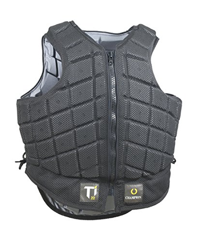 Champion, Titanium Ti22 Childrens Body Protector, Regular Back, Black, Large