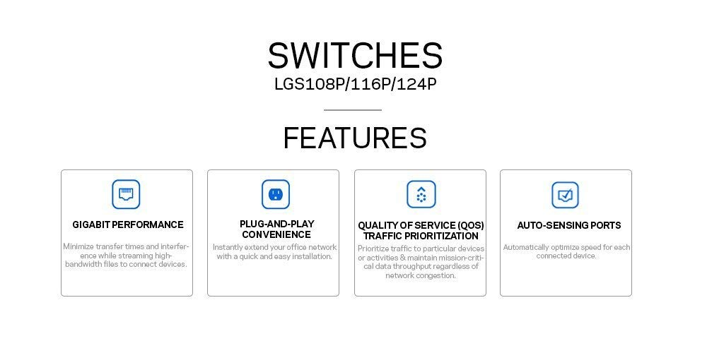 Linksys Business LGS116P-RM2 16-Port Desktop Gigabit Ethernet PoE+ Unmanaged Network Switch I Metal Enclosure (Certified Referbished)