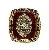 UNIVERSITY OF GEORGIA BULLDOGS (Coach Mark Richt) 2003 SUGAR BOWL CHAMPIONS Finish Drill Rare & Collectible Replica NCAA College Football Gold Championship Ring with Cherrywood Display Box
