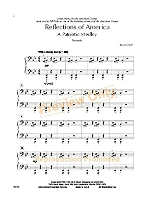 Reflections of America 1 Piano 4 Hands Interm Piano Ensemble