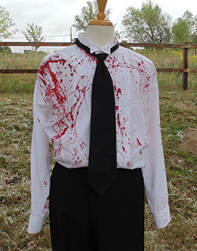 Men's 3xL 34-35 Hand Dyed Tuxedo Shirt by Fru Fru and Feathers Costumes & Gifts