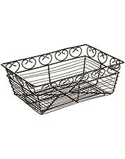 Winco Rectangular Wire Fruit Basket, 9-Inch x 5-7/8-Inch x 3-Inch, Black