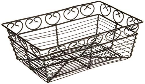 - Winco WBKG-9 Rectangular Wire Fruit Basket, 9-Inch x 5-7/8-Inch x 3-Inch, Black