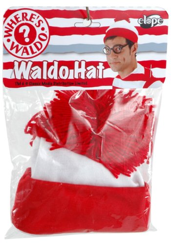 elope Waldo Beanie, Red, One - Halloween Spot The On Costumes
