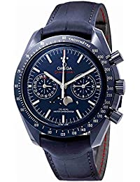 Speedmaster Blue Ceramic Dial Automatic Mens Moonphase Watch 304.93.44.52.03.001
