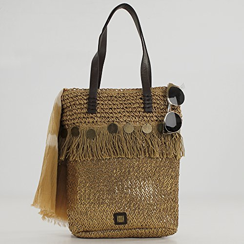 Marrón Shopper para Mujer Unica Eferri Bronce Bohemian q4fwOO