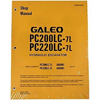komatsu pc200 5 pc220 5 pc220lc operation and maintenance ma